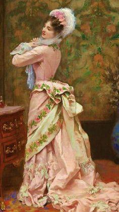 "https://www.pinterest.com/pin/396809417144078015/  1877, ""Toilette"" - by Jules James Rougeron"