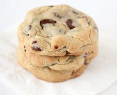 """New York Times Perfect Chocolate Chip Cookies - I've pinned this recipe before, but I made them for the first time today and they are TO DIE FOR!  2/3 of my immediate family members gave them a """"thumbs up"""" and said they were my best cookies yet! The recipe does require a lot of special ingredients, but these cookies are totally worth it."""