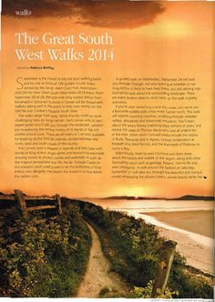 Cornwall Today - September 2014. Go to www.southwestcoastpath.org.uk to book your place.