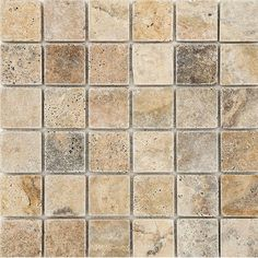 """Scabos Tumbled 2"""" x 2"""" Stone Mosaic Tile"""