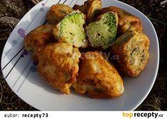 Brokolice/květák v těstíčku s Nivou recept - TopRecepty.cz Vegetable Recipes, Baked Potato, Cauliflower, Potatoes, Meat, Chicken, Baking, Vegetables, Ethnic Recipes