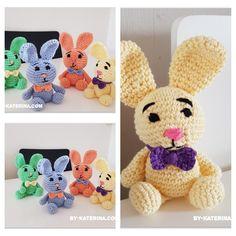 crocheted little bunnies