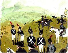 Napoleon's Soldiers by Becca Stadtlander. Humpty Dumpty, Napoleon, Becca, Typography Design, Art Inspo, Illustration Art, Illustrations, Graffiti, Artist