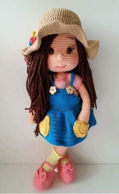 Amazing and very Cute Crochet Amigurumi Ideas for 2019 - Page 15 of 32 Amigurumi Tutorial, Crochet Amigurumi Free Patterns, Crochet Doll Pattern, Knitted Dolls, Crochet Dolls, Costume Marin, Cute Crochet, Crochet Geek, Crochet Basics