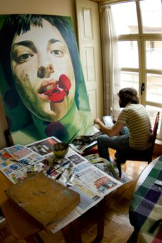 David de las Heras in his studio