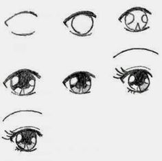 how to draw manga eyes step by step - Learn To Draw And Paint