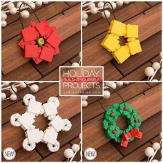 Decorate Your Christmas Tree With These LEGO Ornaments You Can Assemble Yourself - http://DesignTAXI.com