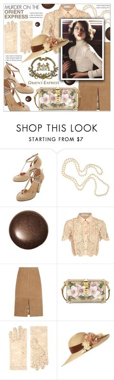 """Murder on the Orient Express"" by celine-diaz-1 ❤ liked on Polyvore featuring Bettie Page, Louche, self-portrait, J.Crew, Dolce&Gabbana, ASOS and Topshop"