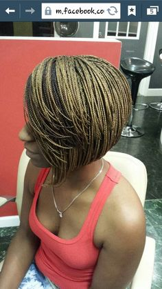 Braided bob other side Box Braids Bob, Pixie Braids, Short Box Braids, My Hairstyle, Braided Hairstyles, Cool Hairstyles, Braided Updo, Natural Hair Styles, Short Hair Styles