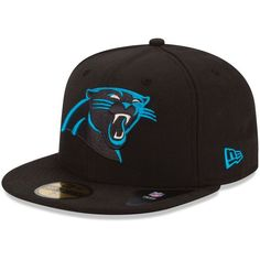 55b8dfcf660b2 New Era Carolina Panthers Black 59FIFTY Fitted Hat