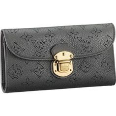 ac7723b7036 Louis Vuitton M58127 Mahina Leather Amelia Wallet Anthracite Passion For  Fashion, Love Fashion, Fashion