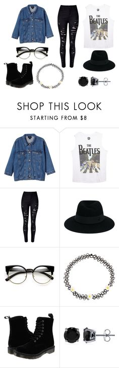 """""""Darkness imprisoning me"""" by laurenpaige100 ❤ liked on Polyvore featuring Monki, Wet Seal, Maison Michel, Monsoon, Dr. Martens and BERRICLE"""