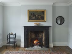 Jamb, UK Traditionally black marble was used in design from the seventeenth century. Steeped in tradition but perfect for any historic or contemporary interior. We have a large collection of our own black marble that we use in our bespoke and reproduction Marble Fireplace Surround, Marble Fireplaces, Brick Fireplace, Living Room With Fireplace, Fireplace Surrounds, Fireplace Design, Fire Surround, Fireplace Fender, Fireplace Candles
