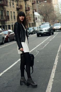 """(Very.com """"Love Label"""" Dress, Minimarket Dear Fieldbinder boots, Tommy Ton for Club Monaco bag, Alimonada necklace, Opening Ceremony sunglasses from Rad & Refined)"""