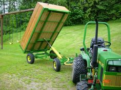 Atv Trailers, Dump Trailers, Welded Metal Projects, Welding Projects, Small Garden Tractor, Garden Tractor Attachments, Homemade Trailer, Wheel Dollies, Small Tractors
