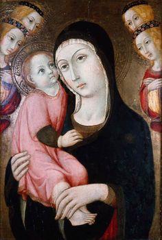 Sano di Pietro - Madonna con il Bambino e angeli (Trittico) - c. 1470 - tempera su tavola - Museum of Fine Arts, Boston