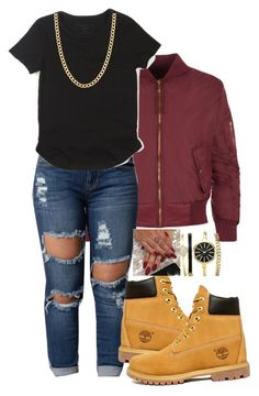 """Dec. 6"" by ieshia-dumas01 ❤ liked on Polyvore featuring WearAll, Timberland and Fremada"
