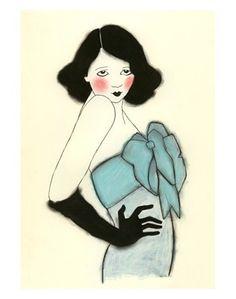 Fashion illustration - Black Gloves