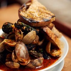 Mussels and Clams in Spicy Tomato Broth