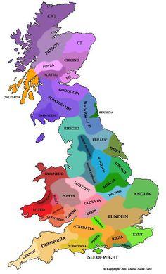 Gli Arcani Supremi (Vox clamantis in deserto - Gothian): Mappa delle regioni storiche della Britannia