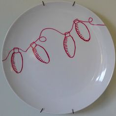 Great ideas for patterns on the dollar store plates that you can bake for a permanent design