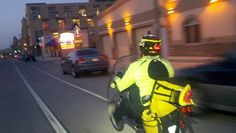 Make sure your or seen when riding a bike in the city!