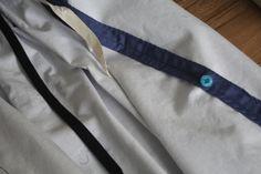 Le système de retroussage de la traîne de ma jupe victorienne / The system to lift up the train of my victorian skirt