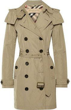 Burberry - Balmoral Packaway Hooded Shell Trench Coat - Neutral #RaincoatsForWomenFit