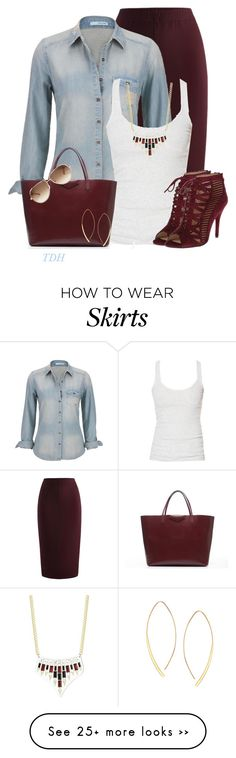 """""""Marsala Skirt"""" by talvadh on Polyvore featuring maurices, Zara, Givenchy, Chloé, ABS by Allen Schwartz and Lana"""