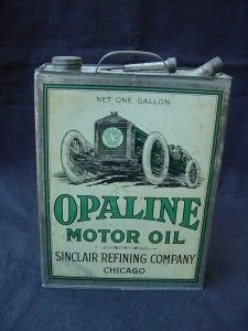 Old Motor Oil Can