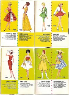 60er Exclusive Fashions by Mattel 6 by diepuppenstubensammlerin, via Flickr