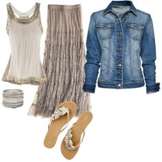 Denim and silver....Love it!