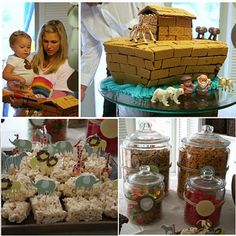 Two by Two: a Noah's Ark Birthday Party Theme by Lullaby Lubbock via The Busy Budgeting Mama