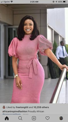 African Wear Dresses, Latest African Fashion Dresses, African Print Fashion, African Attire, Classy Work Outfits, Classy Dress, Nigerian Dress Styles, Lace Gown Styles, Work Dresses For Women