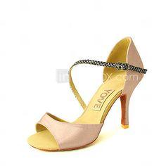 Chaussures de danse(Noir Bleu Jaune Rose Violet Rouge Blanc Fuchsia)  -Personnalisables-Talon Personnalisé-Satin-Latine Salsa
