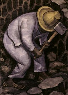Diego Rivera - Stone Worker