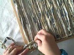 ▶ Weaving fabric strips on the 14 in Dewberry Ridge loom - YouTube