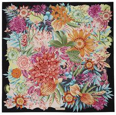 Salvatore Ferragamo Floral Silk Scarf Art Chinois, Art Japonais, Scarf Design, Floral Fashion, Vintage Scarf, Silk Painting, Square Scarf, Silk Scarves, Beautiful Patterns