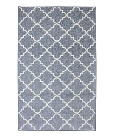 Take a look at this Gray Fancy Trellis Rug on zulily today!