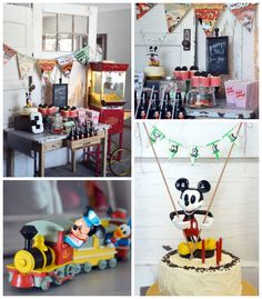 Vintage Mickey Mouse themed birthday party with Lots of Really Cute Ideas via kara's party ideas! full of decorating ideas, dessert, cake, c...