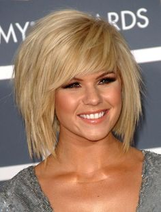 Medium Short Hairstyles Women Bangs