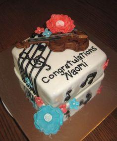 Violin Music Cake