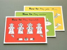 Games How-To Postcards (Set of 3) $8