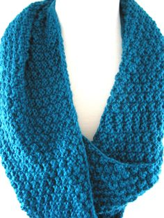 Teal+Hand+Knit+Infinity+Scarf+by+JazzitUpwithDesigns+on+Etsy,+$35.00