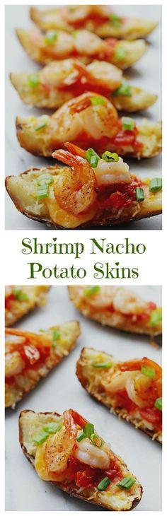 Shrimp Nacho Potato Skins | Grandbaby Cakes