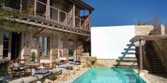 villas for holiday rental - Apokryfo - Almond House, Cyprus in Lofou. Staying here in October Cyprus Hotels, Mountain Villa, Old Stone Houses, Paradise On Earth, Restaurant, Rooftop Terrace, Luxury Yachts, Hotel Reviews, Kitchen Island