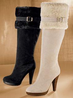 Sexy faux fur Victoria's Secret boots