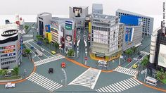 Japanese artist Inco Matsui recreates cities in the miniature, using only paper and glue.