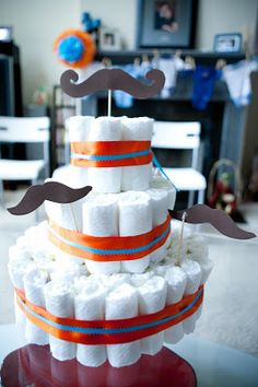 Little Man Baby Shower [complete with mustaches!]