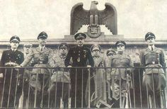 Himmler con Serrano Suñer, ministro falangista de Franco con la cartera de Exteriores